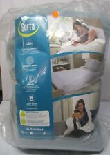 Serta Lux Plush Low-Voltage Electric Heated Micro-Fleece Blanket, Queen, Saphire