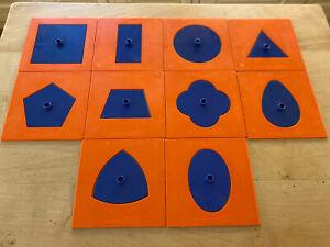 Set Of Inset Shapes Montessori Equipment