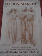 CATALOGUE ANCIEN AU BON MARCHE 1910 / 1920  ( ref 44 )