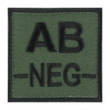 ÉCUSSON PATCH GROUPE SANGUIN AB- / AB NEG / AB NÉGATIF avec DOS AUTO-AGRIPPANT