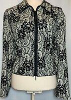 Women's Joseph Ribkoff Long Sleeve Full Zip Blazer Jacket