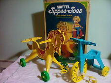 Vintage 1967 Mattel Tippee Toes Riding Horse and Tricycle Made in USA  No Doll