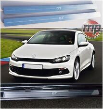 VW Scirocco 08> GT Stainless Steel Kick Plate Car Door Sill Protectors 2pce Set
