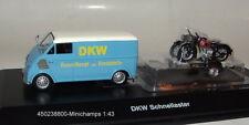 Schuco 450238800-  DKW - Schnell - Laster mit Motorrad-Anhänger - 1:43