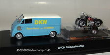 SCHUCO 450238800- DKW - rapidement - Laster avec motorrad-anhänger - 1:43