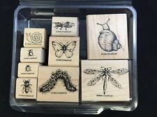 Stampin' Up! Bugs and Slugs Red Rubber Mounted Stamp Set ©1998