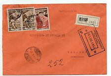 STORIA POSTALE 1953 REPUBBLICA LIRE 40X2+LIRE 25 SU RACC. GANGI 14/7 D-07643