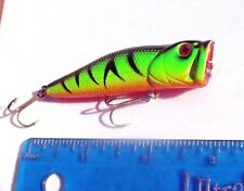 "1pc FIRE TIGER 3"" PRO POPPER,Rattles,TOPWATER Bass Fishing Lure 1/3oz,Chugger"
