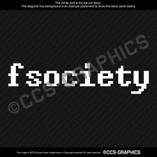 MR ROBOT fsociety Decal window wall sticker hacktivist anonymous gamer hacker