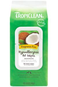 Tropiclean Tropiclean Hypoallergenic Wipes 100s - Deodorising Cat Dog