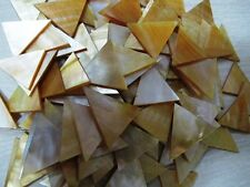TRIANGLE MOP  Seahells  1 inch TRIANGLE shape  plate /chips  wow