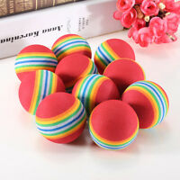 New 20pcs Foam Sponge Indoor Practice Golf Balls Training Ball Rainbow Color TS
