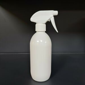 500ml Empty Plastic Gloss White Spray Bottle Trigger Cleaning Pet beauty