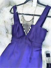 Gorgeous Figure Hugger Fine Girl Purple Lined Midi Dress - S