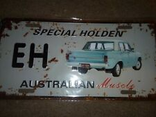 EH HOLDEN   Metal Tin License Number Plate  31cm X 20cm