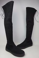 Stuart Weitzman Playtime Black Suede Over The Knee Boots Size 11 M