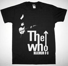 THE WHO MAXIMUM R&B BLACK T SHIRT HARD ROCK ROGER DALTREY CREAM