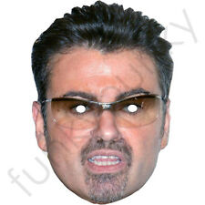 George Michael Celebrity Singer Card Mask- All Our Masks Are Pre-Cut!