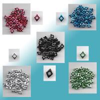 50 Eyelets  Nieten Ösen Raute / Diamant 6 x 8mm verschiedene Farben zur Auswahl