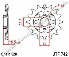 Ducati Streetfighter 1098 S 12-14 15 tooth JT front sprocket 520 conv JTF742.15