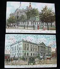 2 Trenton Nj Postcards New Court House State House R Tuck Unsplit Used Pm 1905