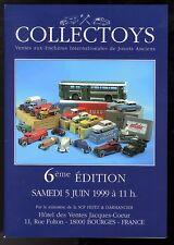 COLLECTOYS  6eme  vente de jouets anciens    5 juin  1999