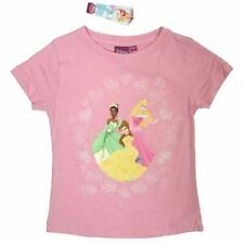 T-shirts, hauts et chemises roses manches courtes pour fille de 2 à 16 ans en 100% coton