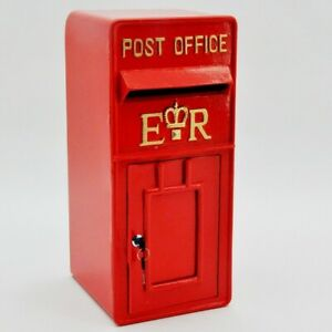 Royal Mail Post Box ER II Pillar Box Red Cast Iron  Post Office Letter Box