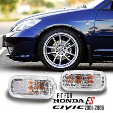 For 01-05 Honda Civic EP3 ES Sedan Clear Lens Amber Light LED Side Marker Lamp