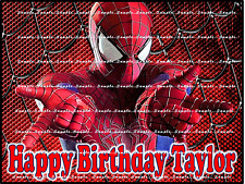 SPIDERMAN: Personalized edible cake images  FREE SHIPPING in Canada