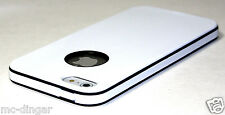 White UltraThin Soft Rubber Matte PC Bumper case cover for iPhone 5 5S SE +Flim