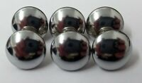 Small 14mm 22L Silver Dome Ball Polished Shank Craft Novelty Sewing Button MB224