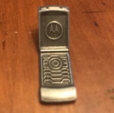 =Here & Now Editi Mini Pewter Figurine Monopoly Token Motorola Mobile Phone 2006
