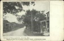 Lunenburg MA Massachusetts Ave 1912 Used Postcard