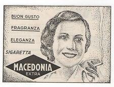 Pubblicità 1939 SIGARETTE MACEDONIA CIGARETTES SMOKE advert werbung publicitè