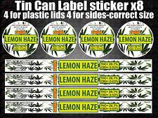 RX Medical Cannabis LEMON HAZE Labels Stickers FIT CANS TINS Marijuana weed CALI