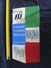 BANDIERINA GAGLIARDETTO CENTENARIO TORINO 1961 ITALIA 61 ODL ITALY