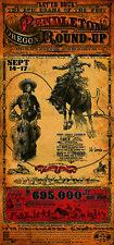 Pendelton Orgenon Round Up Rodeo Western Poster by Bob Coronato