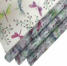 3X Multi Colored Dragon Fly Great Birthday Amazing Wrapping Paper Plastic Vellum