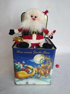 2001 FIRST EDITION Lazarus Dept Store Santa Jack-In-the-Box Tested Working