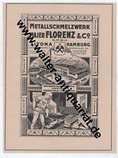 Metall-Schmelzwerk Majer Florenz Altona Hamburg Große Reklame von 1923 Maier