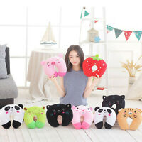 Children Travel Neck Pad Soft Portable Cervical Pillow Toy Animal Christmas Gift