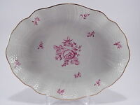 """PIATTO OVALE RAVIERA PORCELLANA PORCELAIN HEREND HUNGARY  """"LE ROSE"""""""