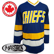 SlapShot Movie Charlestown CHIEFS Hockey Jersey *Official* *Made in Canada*