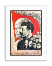 COMMUNISM STALIN LENIN SOVIET UNION Picture Political Canvas art Prints