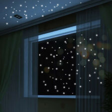 Glow In The Dark Star Wall Stickers 407Pcs Round Dot Luminous Kids Room Decor GD