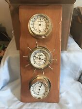New listing Vintage Sunbeam Nautical Weather Station Thermometer Barometer Humidity Gauges