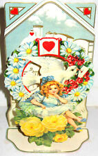 Vintage 3D VALENTINE CARD DECORATION Stand-up Display Mint/Sealed MERRIMACK