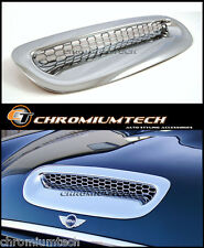 MK1 BMW MINI Cooper S JCW R52 R53 CHROME Bonnet Hood Vent Air Intake Scoop Cover