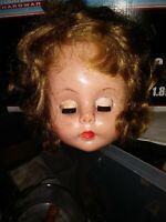 Original 1950s Ideal 22 inch Flirty eyed Saucy Walker Doll head tlc needed